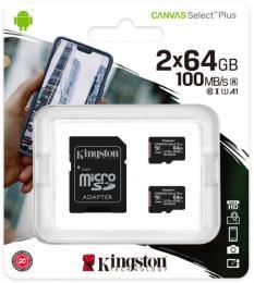 Kingston 64GB Class 10 Canvas Select Plus 100R A1