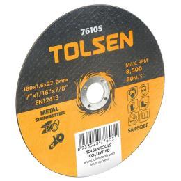 Tolsen отрезной по металлу/нержавейке 180х1.6*22.2мм