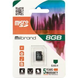 Mibrand 8GB microSD class 4