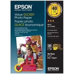 EPSON 10x15mm Value Glossy Photo Paper 2х20 л.