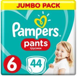Pampers трусики Pants Extra large Размер 6 (15+ кг), 44 шт