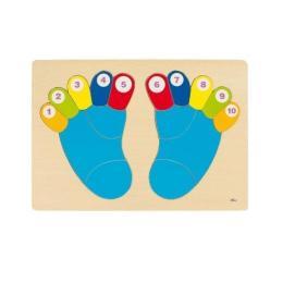 Goki Пазл-вкладыш - Ножки