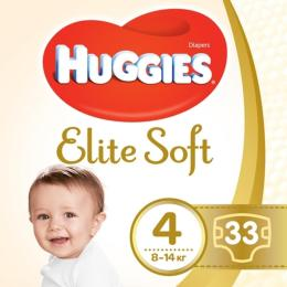 Huggies Elite Soft 4 (8-14 кг) Jumbo 33 шт