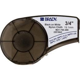 Brady M21-750-499, nylon, 19.05mm/4.87m, Black on White