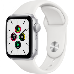 Apple Watch SE GPS, 40mm Silver Aluminium Case with Whit