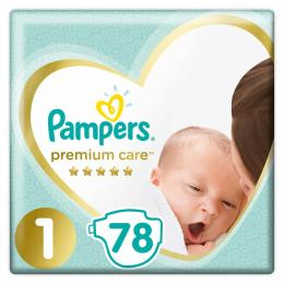 Pampers Premium Care New Born Размер 1 (2-5 кг) 78 шт