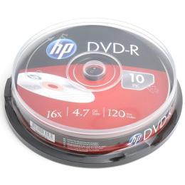 HP DVD-R 4.7GB 16X 10шт