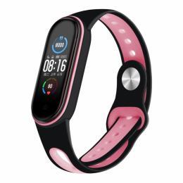 BeCover Sport Style для Xiaomi Mi Smart Band 5 Black-Pink