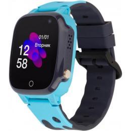 ATRIX iQ2100 IPS Cam Blue Kids smart watch-phone, GPS tr