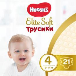 Huggies Elite Soft Pants L размер 4 (9-14 кг) 21 шт