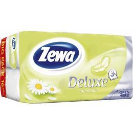 Zewa Deluxe 3-слойная Ромашка Белый 16 шт