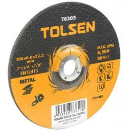 Tolsen шлифовальный по металлу 180х6.0*22.2мм