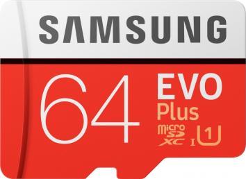 Samsung 64GB microSDXC class 10 UHS-I U1 Evo Plus V2