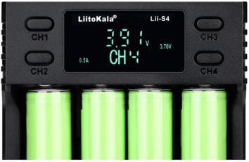Liitokala 4 Slots, LCD дисплей, Li-ion/Ni-MH/Ni-Cd/AA/ААA/AA