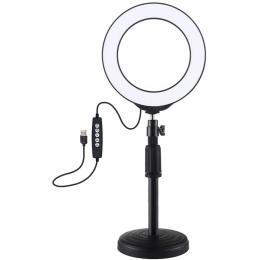 "Puluz Ring USB LED lamp PKT3047B 6.2"" + table mount"