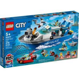 LEGO City Police Полицейская патрульная лодка 276 детал
