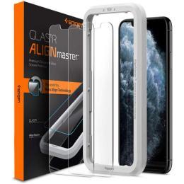 Spigen iPhone 11 Pro/XS/X AlignMaster Glas tR, 2 pack