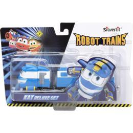 Silverlit Robot Trains Паровозик с двумя вагонами Кей