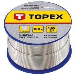 Topex олов'яний 60Sn, проволока 1.5 мм,100 г