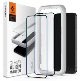 Spigen iPhone 12 / 12 Pro tR ALM FC Black (2Pack)