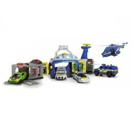 Dickie Toys Управление полиции с 4 машинами и вертолетом
