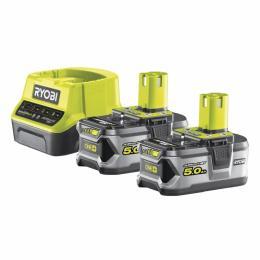 Ryobi + зарядное устройство ONE+ RC18120-250 18В 2х5.0А/