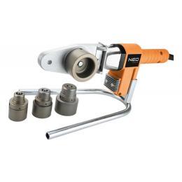 Neo Tools для пластиковы труб 650 Вт, 4 насадки, PTFE