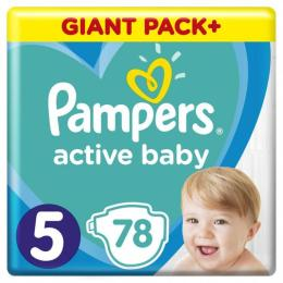 Pampers Active Baby Junior Размер 5 (11-16 кг), 78 шт.