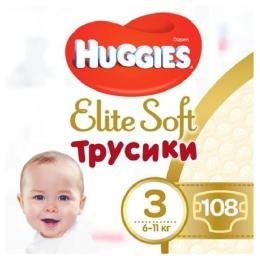 Huggies Elite Soft Pants M размер 3 (6-11 кг) Box 108 шт