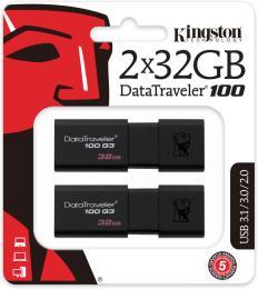 Kingston 2x32GB DataTraveler 100 G3 USB 3.1