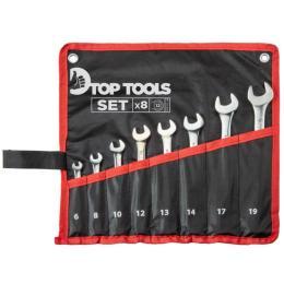 TOP TOOLS ключей комбинированных 6-19 мм, 8 шт.