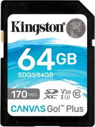 Kingston 64GB SDXC class 10 UHS-I U3 Canvas Go Plus