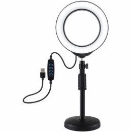 "Puluz Ring USB LED lamp PU392 6.2"" + table mount 18-28 с"