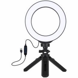 """Puluz Ring USB LED lamp PKT3059B 6.2"""" + table tripod"""