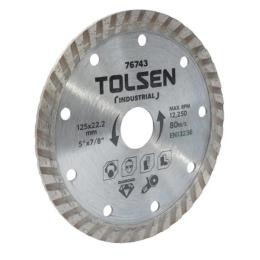 "Tolsen ""ПРОФІ"" алмазный Турбо 125?22.2х10 мм"