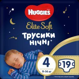 Huggies Elite Soft Overnites 4 (9-14 кг) 19 шт