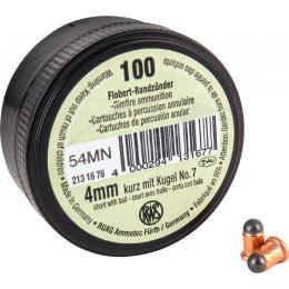 RWS DYNAMIT Flobert Cartridges 4 мм kurz Short - ball