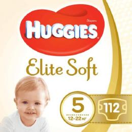 Huggies Elite Soft 5 (12-22 кг) 112 шт