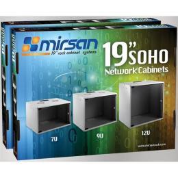 """MIRSAN SOHO 7U 19"""" 535x300, RAL 7035"""