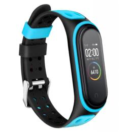 BeCover Colour Style для Xiaomi Mi Smart Band 5 Black-Blue