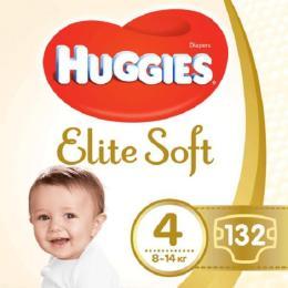 Huggies Elite Soft 4 (8-14 кг) 132 шт