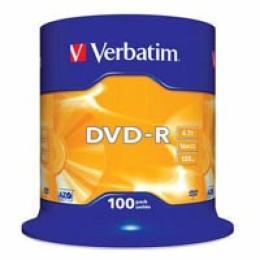 Verbatim 4.7Gb 16X CakeBox 100шт