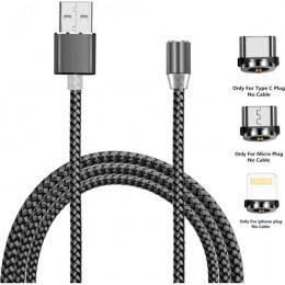XoKo USB 2.0 AM to Lightning + Micro 5P + Type-C 1.2m M