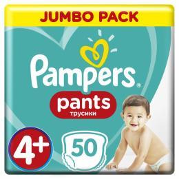 Pampers трусики Pants Maxi Plus Размер 4+ (9-15 кг), 50 шт