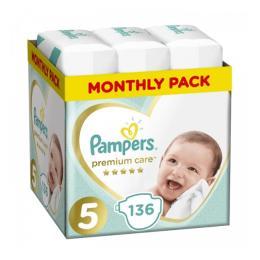 Pampers Premium Care Junior Размер 5 (11-16 кг), 136 шт