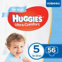 Huggies Ultra Comfort 5 Mega для мальчиков (12-22 кг) 56 ш