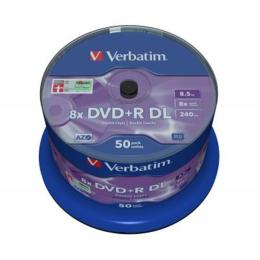 Verbatim 8.5Gb 8X CakeBox 50 шт MATT SILVER SURFACE