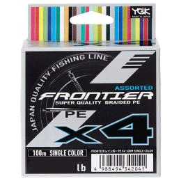 YGK Frontier X4 Assorted Single Color 100m 0.8/0.148mm