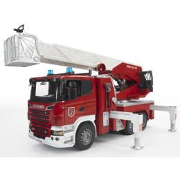 Bruder Большая пожарная машина Scania R-series с лестнице