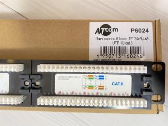 "Atcom 19"" 24 порта UTP cat.6"